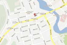 Map to Huntsville