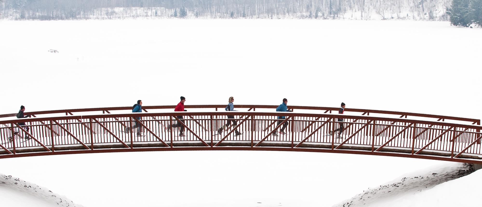 Snowshoeing at Arrowhead Park