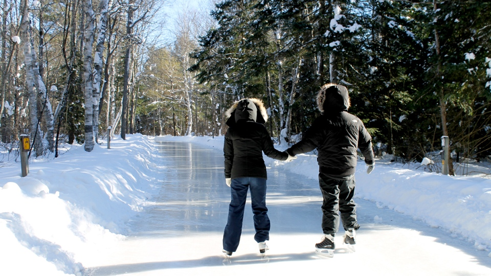 Image result for Arrowhead Provincial Park skate trail