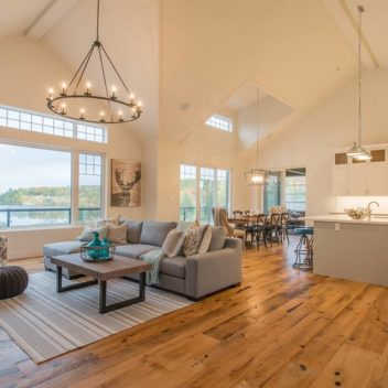 Urban Rustic Living Living Room Design