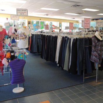 Salvation Army Clothing Racks