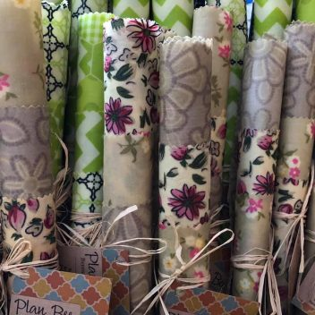 Beeswax Wraps at the Farmers Market