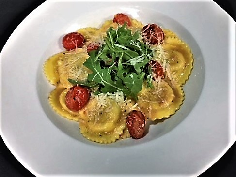 Smoked Mozzarella and Basil Ravioli