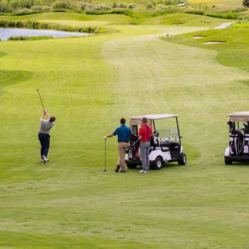 Golfing at Deerhurst Highlands Golf Course