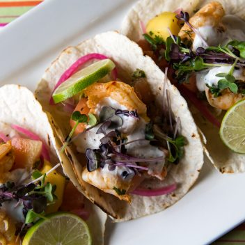 Shrimp Tacos at 3 Guys and a Stove
