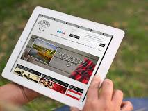 Reeder Web Design Website on iPad
