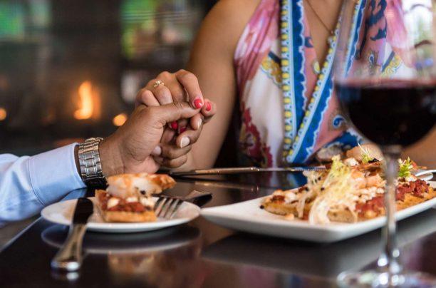Couple Dining at Deerhurst Resort