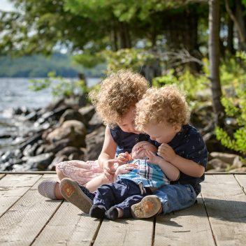 Kids on a Dock