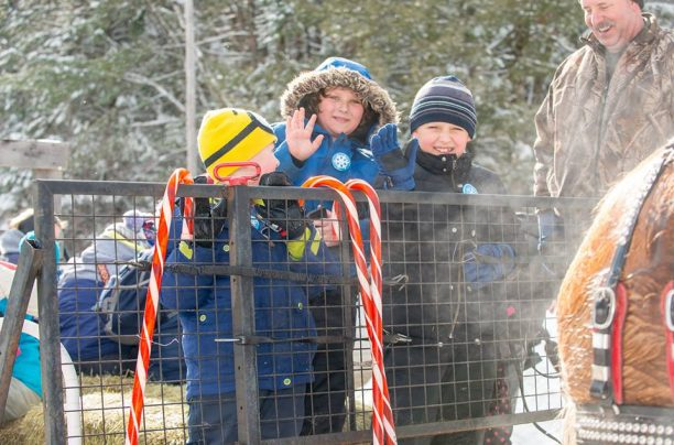Kids on a Sleigh Ride at the Dwight Winter Carnival