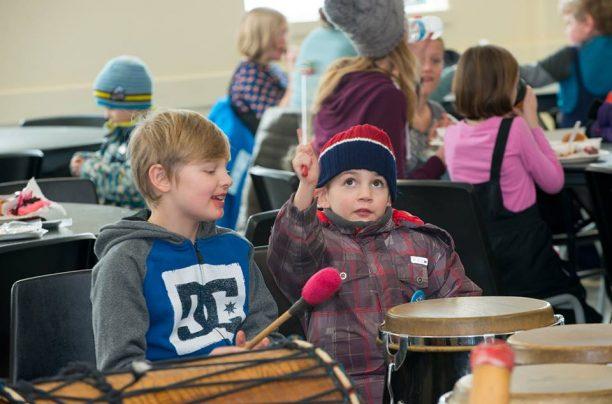 Drumming Circle at the Dwight Winter Carnival