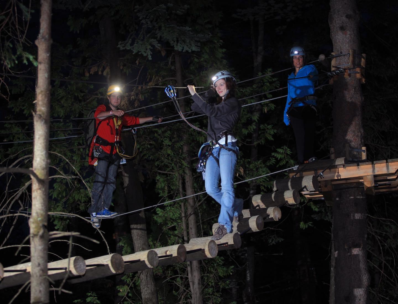 Night Trek at Treetop Trekking
