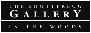 The Shutterbug Gallery in the Woods Logo