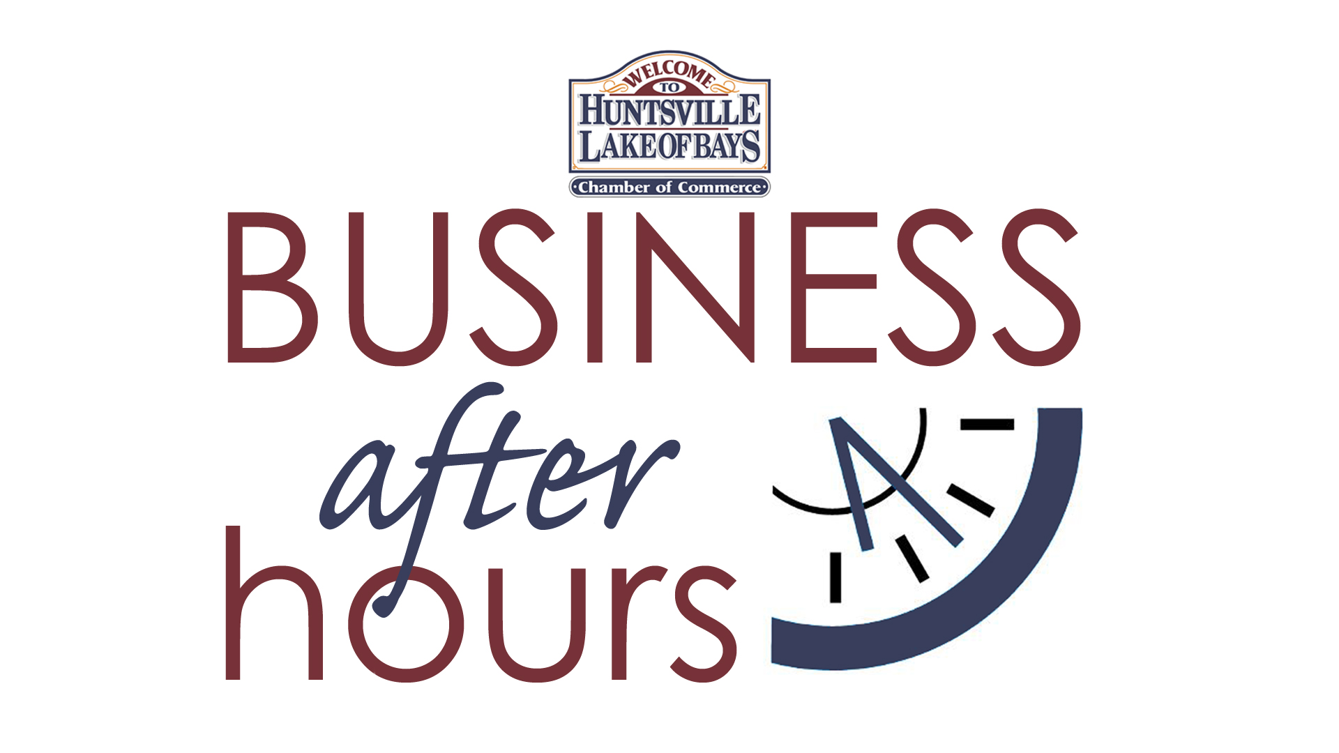 Huntsville Lake of Bays Chamber of Commerce Business After Hours Logo