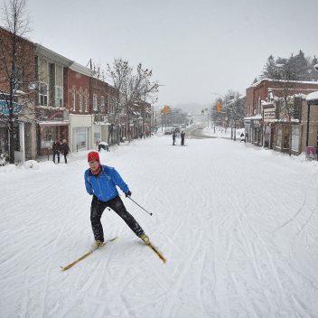 Skiing in Downtown Huntsville