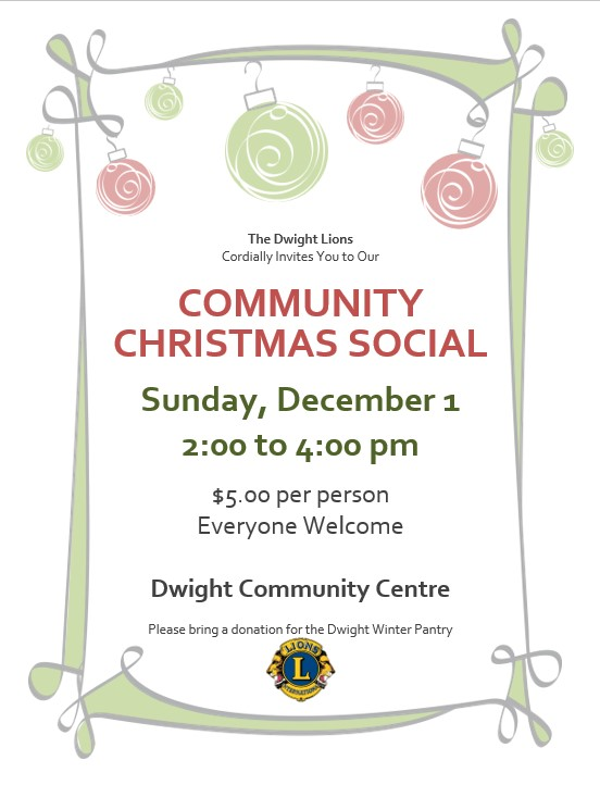 Community Christmas Social Poster