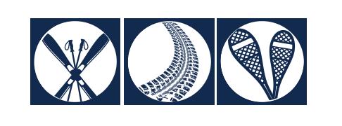 Nordic Ski, Fatbike, Snowshoe Icon
