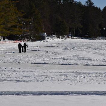 Family Skating at the Dwight Beach