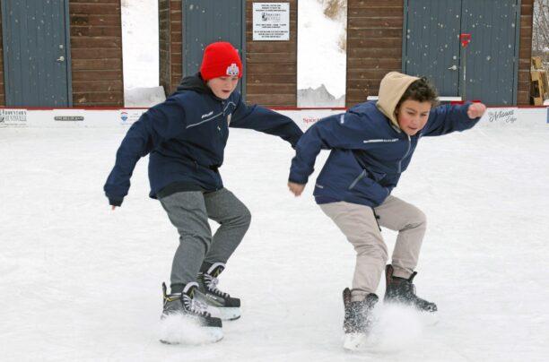 Skating in River Mill Park