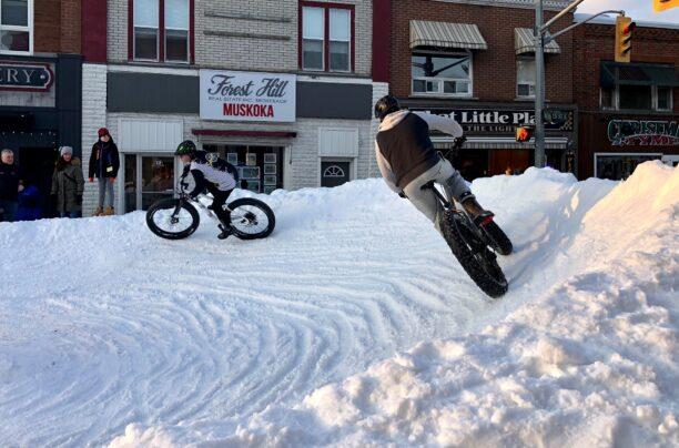 Fat Bike Race on Main Street